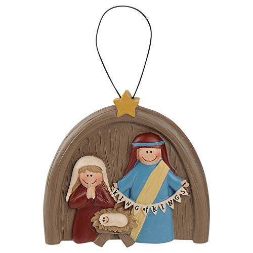 Blossom Bucket King of Kings Nativity 3 x 3 Inch Resin Stone Christmas Ornament