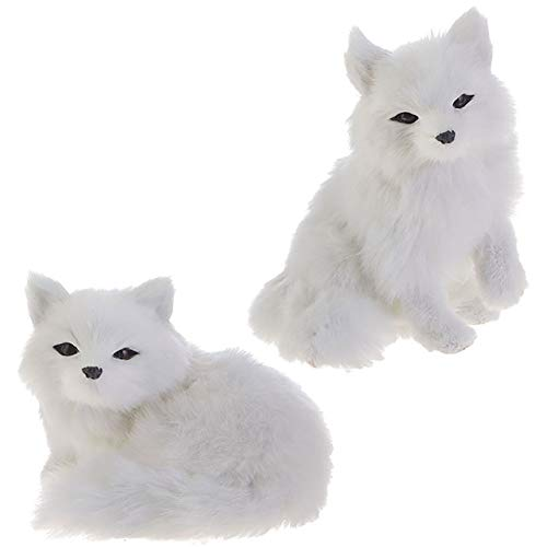 RAZ Imports Fox Figurines/Christmas Ornaments — Set of 2 Faux Fur Fox Ornaments