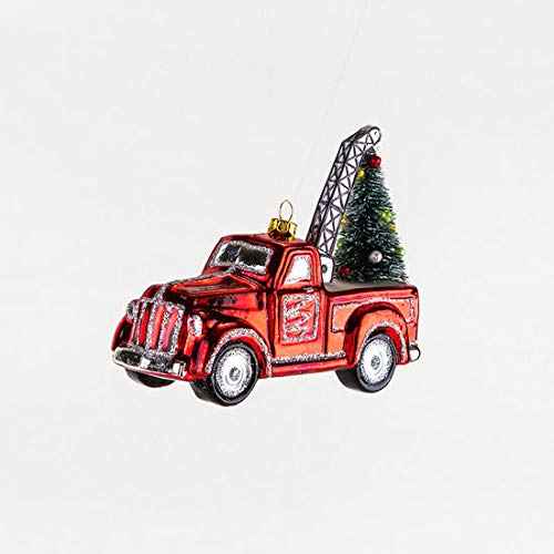 One Hundred 80 Degrees Glass Ornament (Tow Truck w/Tree)