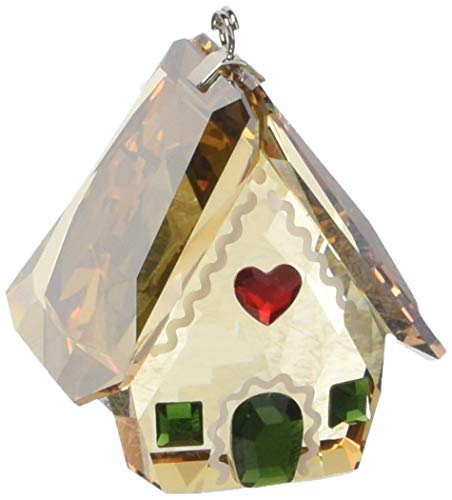 Swarovski Gingerbread House Ornament, Amber/Green/Red Crystal