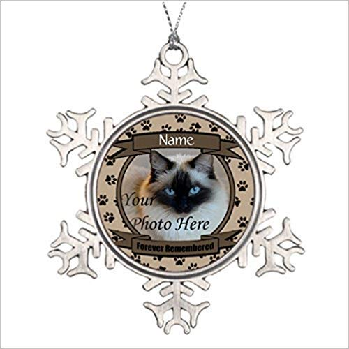 Larmai Shety Lot Forever Remembered Dog Or Cat Memorial Customized Decorative Xmas Snowflake Ornament 2018 Farmhouse Collectible Keepsake