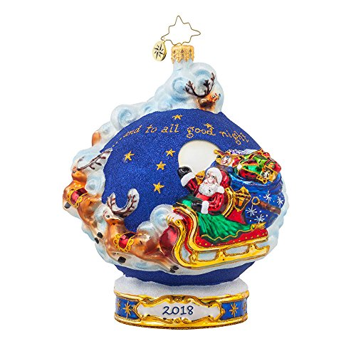 Christopher Radko and to All a Good Night 2018 Dated Christmas Ornament – Exclusive