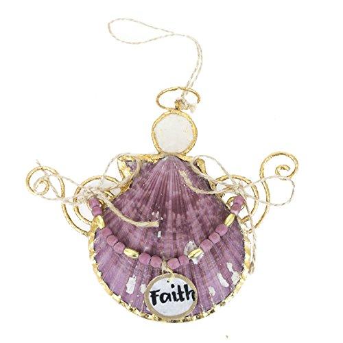 Beachcombers Faith Shell Angel Ornament