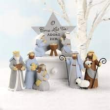 Blossom Bucket 188-11999 Three Piece Nativity Set Figurines