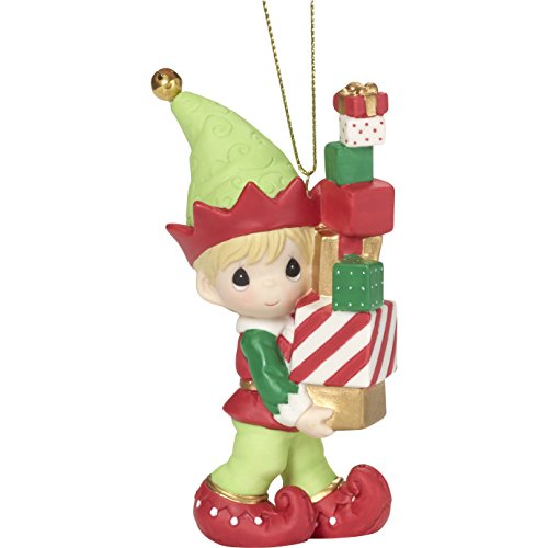 "Precious Moments"" Bringing You Loads of Christmas Cheer Elf Ornament"