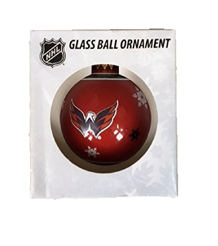 Washington Capitals Glass Ball Ornament