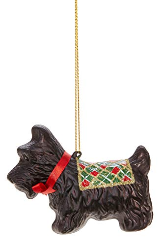 RAZ Imports Scottish Terrier Novelty Glass Ornament