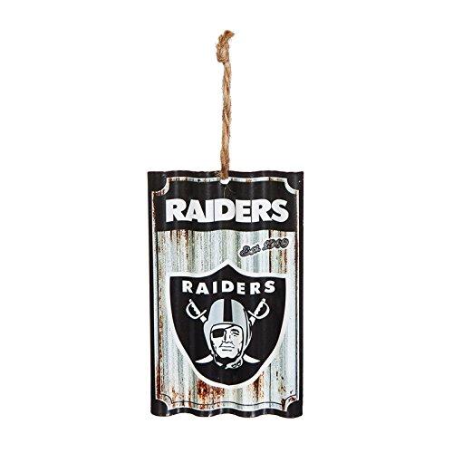 Team Sports America Oakland Raiders, Metal Corrugate Ornament, Set of 2