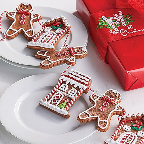 RAZ Imports Raz 30″ Gingerbread Cookie Christmas Garland G3816442