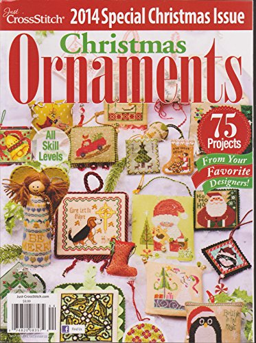 Just Cross Stitch Christmas Ornaments 2014