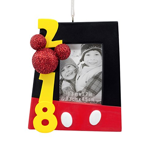 Hallmark Christmas Ornament 2018 Year Dated, Disney Mickey Mouse Picture Frame, Photo Holder