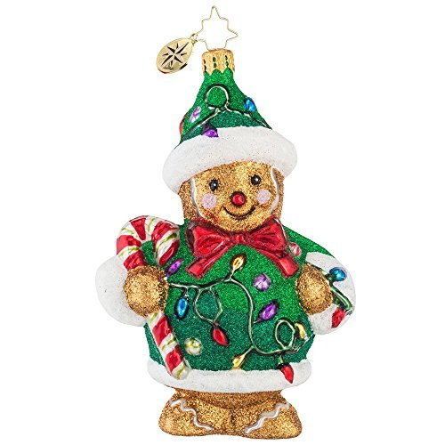 Christopher Radko Light 'em Up Ginger Glass Christmas Ornament