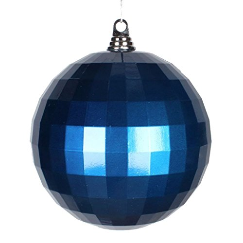 "Vickerman Candy Finish Shatterproof Mirror Ball Christmas Ornament, 1 per Bag, 8"", Sea Blue"