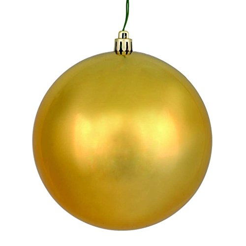 Vickerman 571644-8″ Copper Gold Shiny Ball Christmas Tree Ornament (N592033DSV)