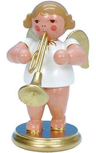 """Alexander Taron Importer 31353 – Christian Ulbricht Ornament Angel musician with trombone – 2.5″"""" H x 1.5″"""" W x 2.5″"""" D"""