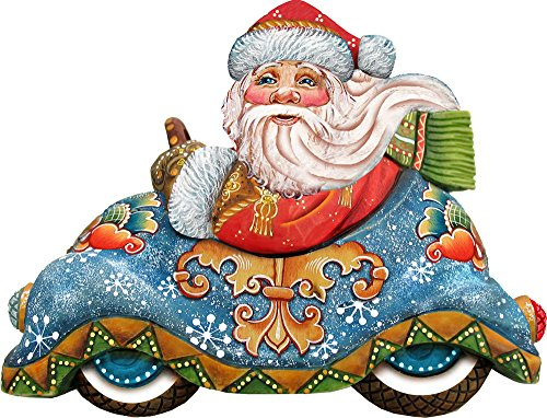 G. Debrekht Speedy Delivery Santa Deco Ornament