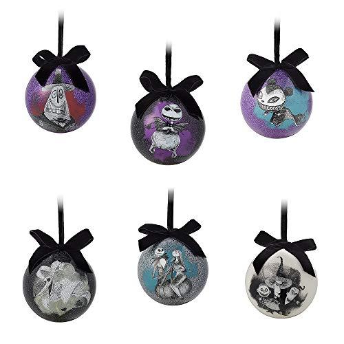 Disney Tim Burton's The Nightmare Before Christmas Ball Ornament Set No Color