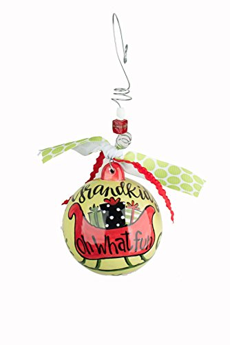 Glory Haus Grandkids Oh What Fun Ball Ornament, 4″ x 4″, Multicolor