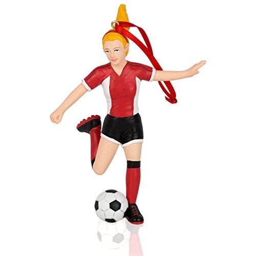 Soccer Christmas Ornament | Soccer Ornaments by ChalkTalkSPORTS | Girl | Blonde