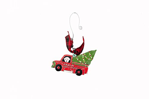 Glory Haus 21100113 Merry Christmas Car Flat Ornament, Multicolor