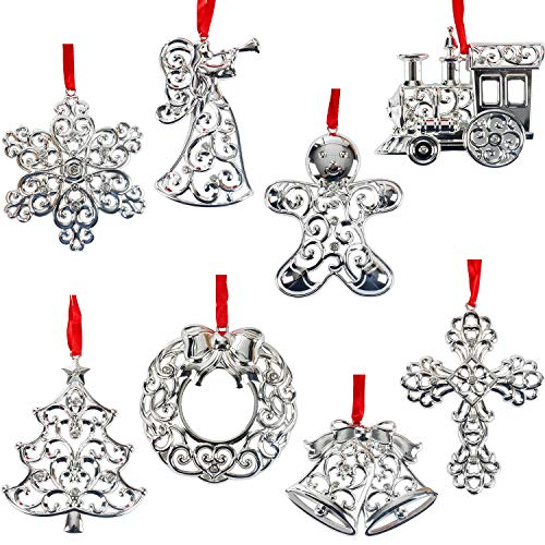 Lenox Sparkle And Scroll Holiday Ornaments (Set-8)