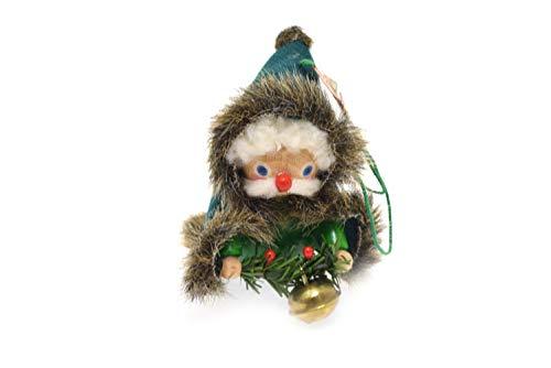 Steinbach Handmade German Wooden Christmas 3″ Ornament Man Green Cape Bell