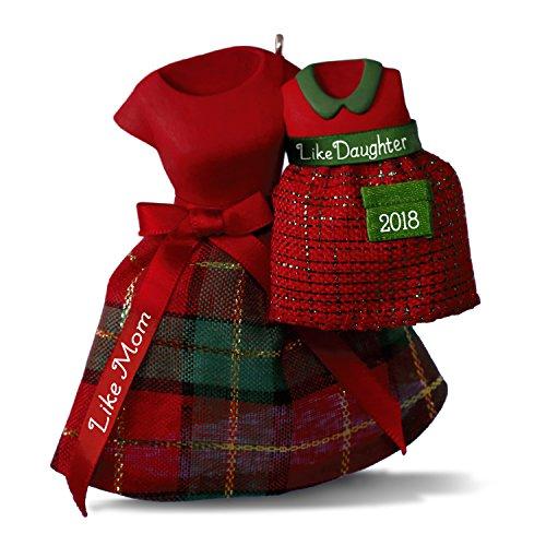 Hallmark Keepsake Christmas Ornament 2018 Year Dated, Like Mom, Like Daughter Dresses