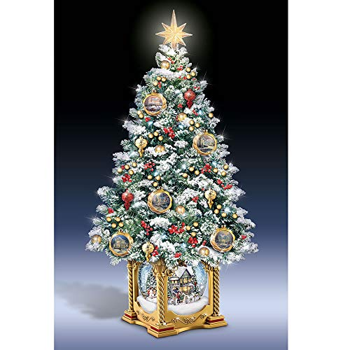 Hammacher Schlemmer The Thomas Kinkade Snow Globe Tabletop Tree