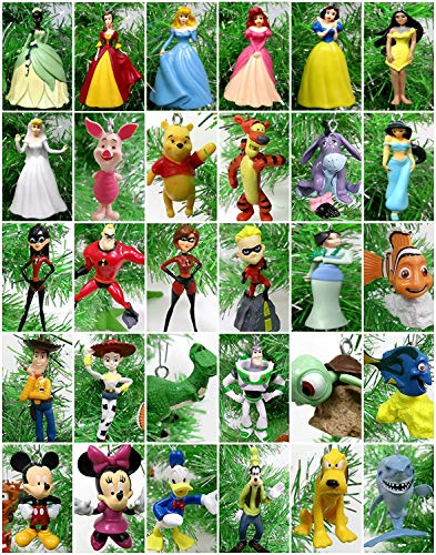 Ornament Disney 30 Piece Christmas Set Featuring Beloved Disney Characters