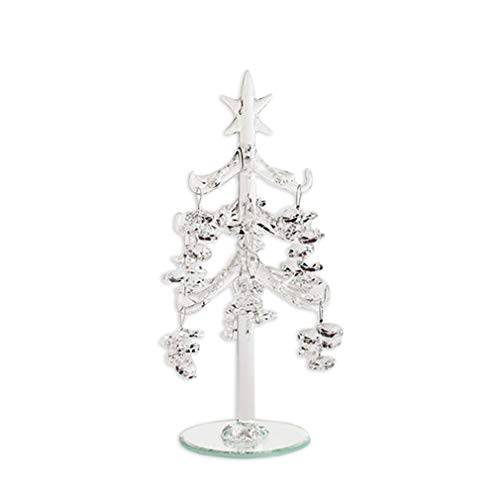 One Hundred 80 Degrees Clear Crystal 8.25 Inch Glass Dangle Ornament Decorative Tabletop Christmas Tree