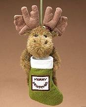 Boyds Merry Moosemas Plush Moose Ornament #562724 Retired