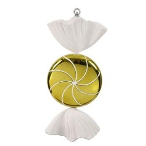Vickerman 185″ Lime and White Swirl Candy Christmas Ornament