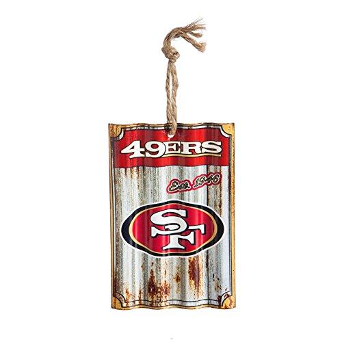 Team Sports America San Francisco 49ers, Metal Corrugate Ornament, Set of 4