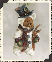 "Boys Bear ""Snowbearski"" Bear Ornament"