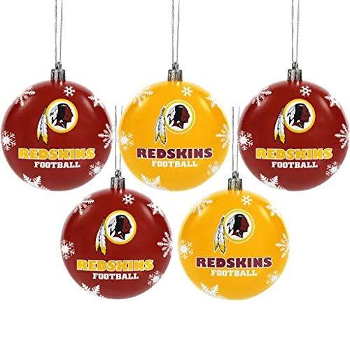 Forever Collectibles Washington Redskins Shatterproof Ball Ornament Set