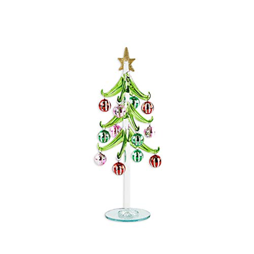 One Hundred 80 Degrees Multi Color Glass 10 Inch Dangle Christmas Ornament Ball Tree