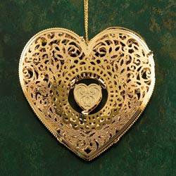 Baldwin Filigree Heart Ornament