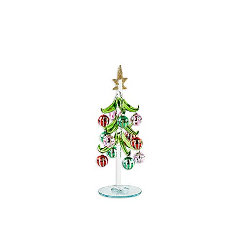 One Hundred 80 Degrees Multi Color Glass 8 Inch Dangle Christmas Ornament Ball Tree