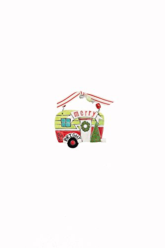 Glory Haus Merry & Bright Camper Flat Ornament, Multicolor