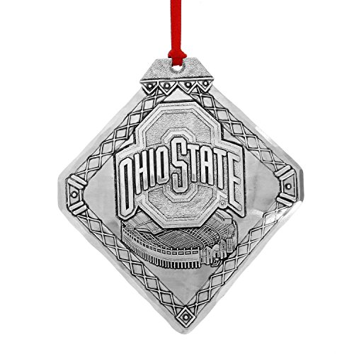Wendell August Forge Ohio State Football Stadium Christmas Ornament – Proudly Display Buckeye Pride This Christmas – Hand-Hammered Aluminum Holiday Ornament