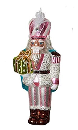 One Hundred 80 Degrees Pastel Nutcracker Soldier Ornament (Pink Hat)