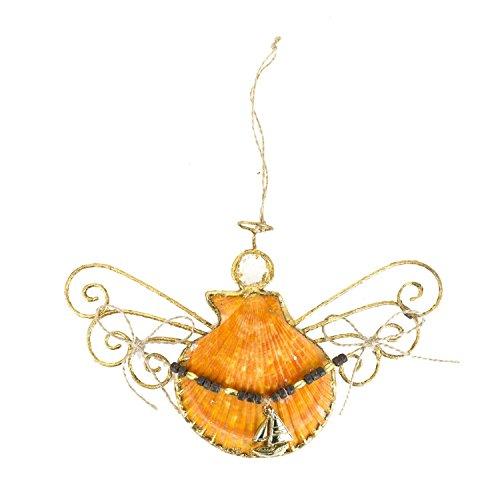 Beachcombers Ship Shell Angel Ornament