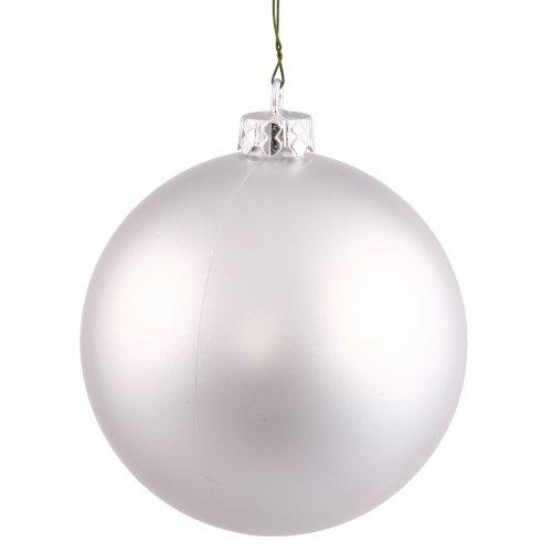 Vickerman Shatterproof Matte Ball Ornaments, 60 per Box, 2.4″, Silver
