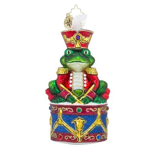 Christopher Radko Ribbitt Rhythm Frog Christmas Ornament