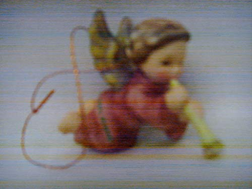 "Goebel Berta Hummel Christmas Ornament Angel with Trumpet Clarinet Recorder 2″"" Collectible"