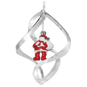 Crystal Delight by Mascot Chrome Santa Claus Spiral Ornament – Red