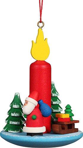 Christian Ulbricht Tree Ornament Candle Santa Claus – 5,4×7,4 cm / 2.2×2.9 inch