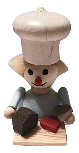 Steinbach Gingerbread Baker Hearts Wooden German Ornament