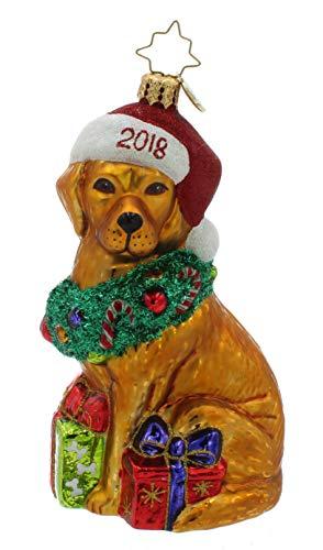 Christmas Retriever Tree Ornament Dated 2018