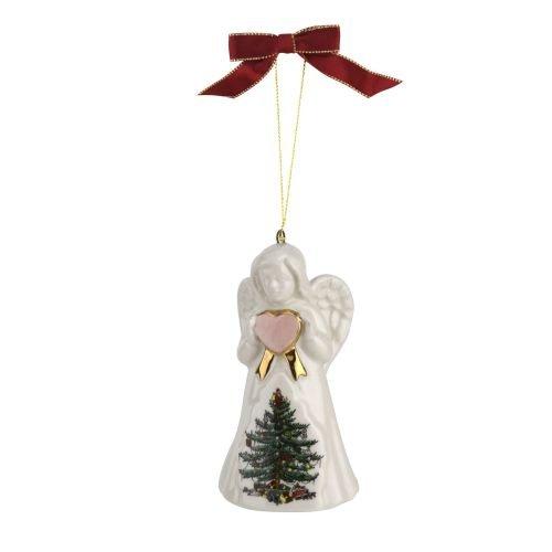 Spode 1667846 Angel Ornament, Green